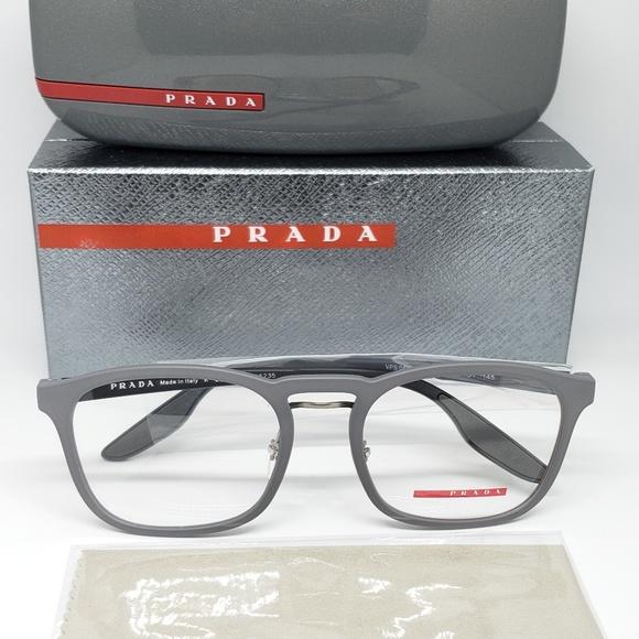 4ba8835b7d536 PRADA Sport Rubber Eyeglasses Frame Gray